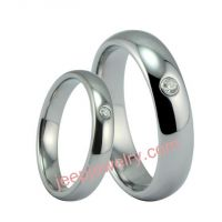 Tungsten gold ring set zircon ring male quit lady ring couples lovers ring buddhist monastic discipl