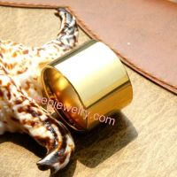 Pure titanium rings male ultra wide BanZhi thumb ring/ring of 18 k gold ring
