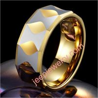 Spade And Funnel Tungsten Ring