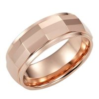 SWEET AND ROMANTIC ROSE GOLD TONE TUNGSTEN RING
