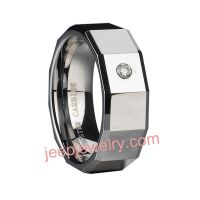 Diamond tungsten ring/ tungsten steel ring has male, female and couple styles