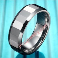 Classic Mens Tungsten Ring Engagement Wedding Band Silver 8mm