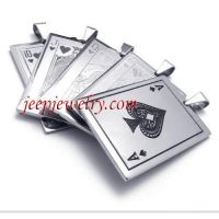 Full set of stainless steel poker card article