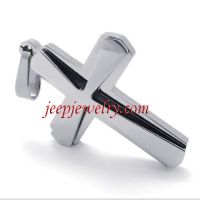 Cross stainless steel pendant silver double pendant