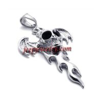 Stainless steel silver pulp Lou head pendant