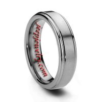6MM SATIN TUNGSTEN WEDDING BAND FOR MEN & WOMEN