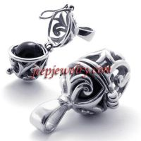Stainless steel agate beads pendant lovers can be apart in bead