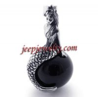 Fashion accessories stainless steel jewelry mermaid black pendant man pendant