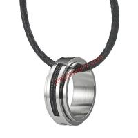 RnB Stainless Steel Men's Silver Cable Ring Pendant Necklace Chain