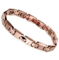 MALE TUNGSTEN STEEL FATIGUE RADIATION COUPLES ROSE GOLD BRACELET FASHION