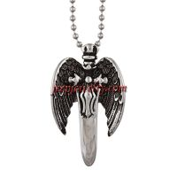 Stainless Steel Men's Winged Sword Necklace