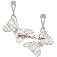 Stainless Steel Cut Out Designed Butterfly Earrings