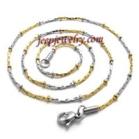 women's golden stainless steel necklace