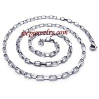 men's hook-ups stainless steel necklace