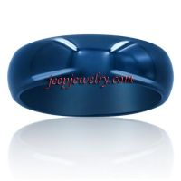 Wholesale blue Tungsten Carbide ring Traditional comfort fit