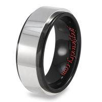 Men's Tungsten Black Ceramic Ring (8 mm)