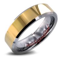 Men's Tungsten Carbide Goldplated Ring (6 mm)