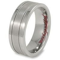 Men's Tungsten Flat Grooved Band (8 mm)