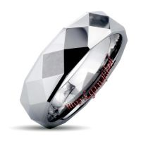 Tungsten Carbide Faceted High Polish Ring