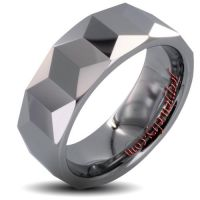 Tungsten Carbide Prism Design Ring