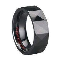 Tungsten Carbide Two Tone Goldplated Center Groove His And