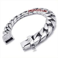 Jewelry Stainless Steel Mens Bracelet, Silver, 8.66 Inch