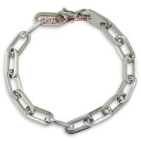 Stainless Steel Open Link Mens Bracelet. 8 1/2 Inches