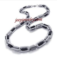 fashion black stainless steel short necklace