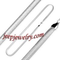 24 Inch 3mm - Spikes 316L Stainless Steel Snake Necklace