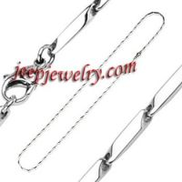316L Stainless Steel Necklace Prism Cut Links 1.5 to 3 mm