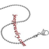 1.5mm Ball Titanium Chain Necklace