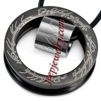 Jewelry Stainless Steel Pendant Men Black Lord Of The Rings Love