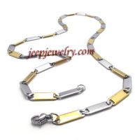 golden flakes type stainless steel necklace