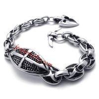 shield casting stainless steel bracelet