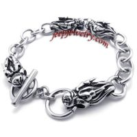 Chinese dragon stainless steel bracelet