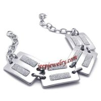 fashionable silvery stainless steel bracelet for women