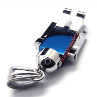 Men's stainless steel robot pendant necklace