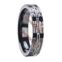 Personality men tungsten steel ring wholesale