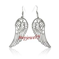 Stainless Steel Angel Wings Earrings