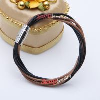 Fashionable black and brown cortex bracelet