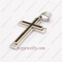 Fashionable cross trio stainless steel pendent
