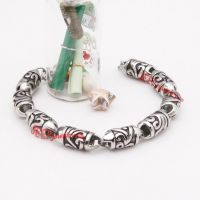 classical 316L casting stainless steel ecthed speical pattern bracelet