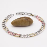 slender double-color stainless steel chains