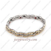 The gold rimmed serpentine fashion bracelets