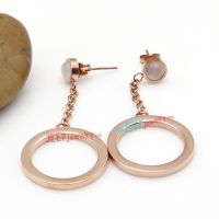 Golden Big Size of Circle-Shape Fashionable Stainless Steel Earrings For Guys