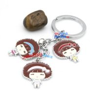 Lovely three little girl-shaped metal stainless steel key chain cute gucci key rings