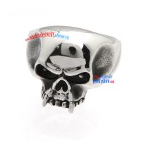 Angry Skull Stainless Steel Ring Jewelry Charms Wholesale