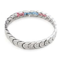 Wonderful stainless steel ecthed speical pattern bracelet