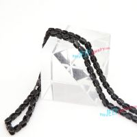 elegant black beads stainless steel strings