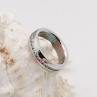 The diamond overspread silver wedding stainless steel ring
